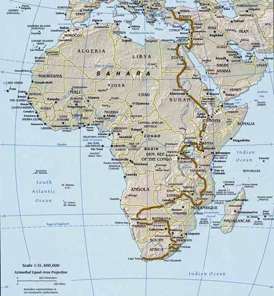 InSearchOfAfrica - Overland Gloucester (UK) to Cape Town (SA)